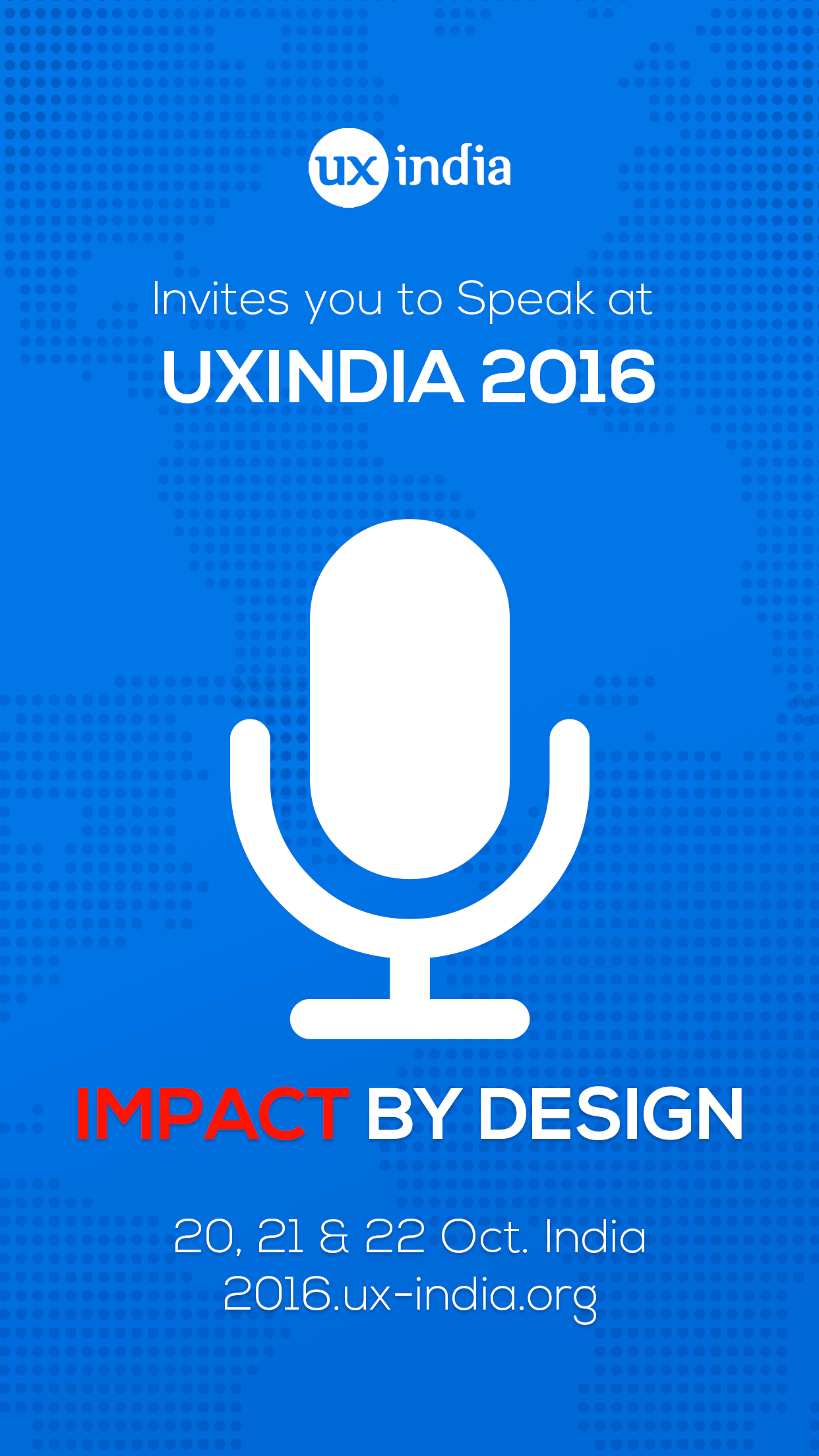 Submit your talk or workshop at UXINDIA 2016 : Driving value through customer experience